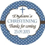 Personalised Boy Christening Sticker Design 8